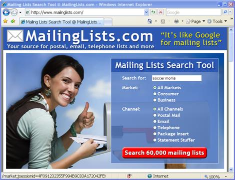 """=""""MailingLists.com"""