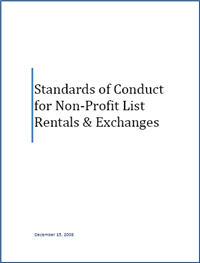 Standards of Conduct for Non-Profit List Rentals and Exchanges