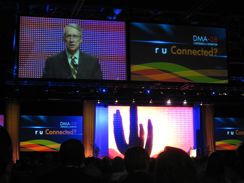 Harry Reid speaks at the DMA*08 Keynote address